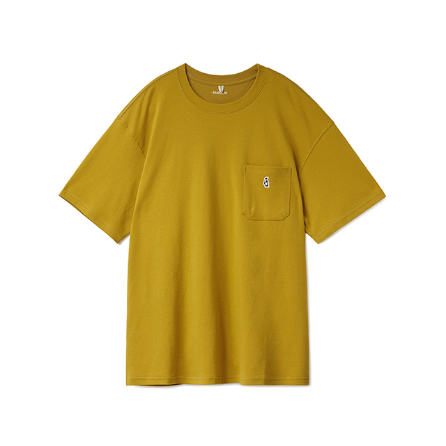 Paul Pocket T-shirts Mustard