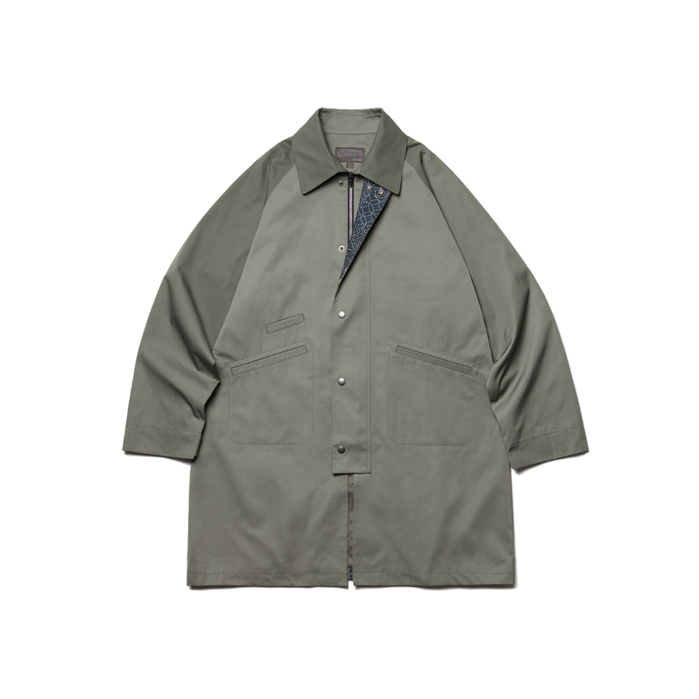 Balmacaan Modified Middle Jacket Oil Green