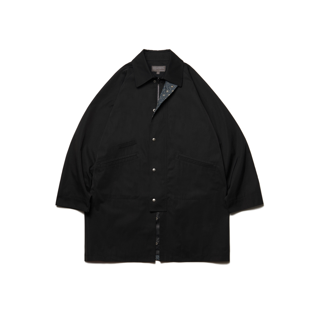 Balmacaan Modified Middle Jacket Black