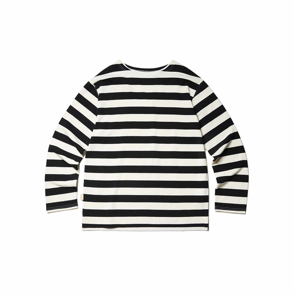 Marine Stripe Long Sleeve Black