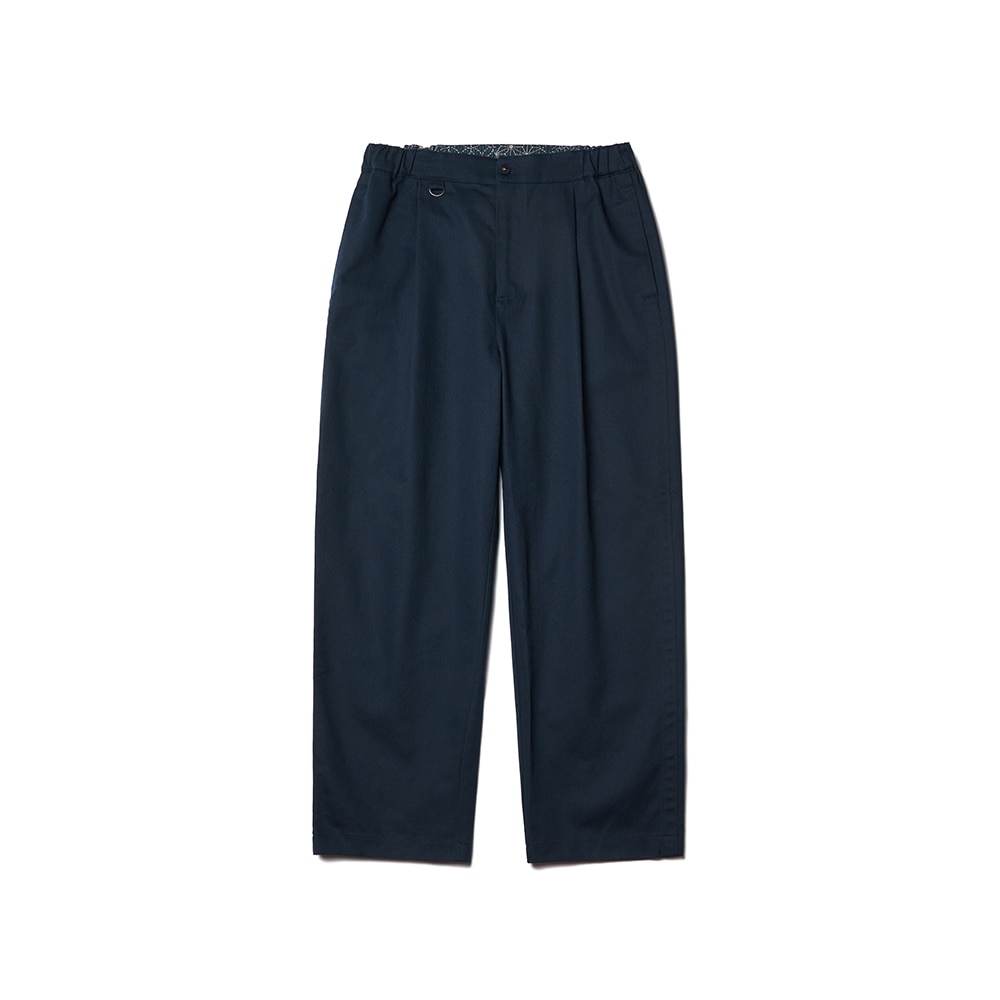 Pleated Ankle Chino Pants Vintage Navy