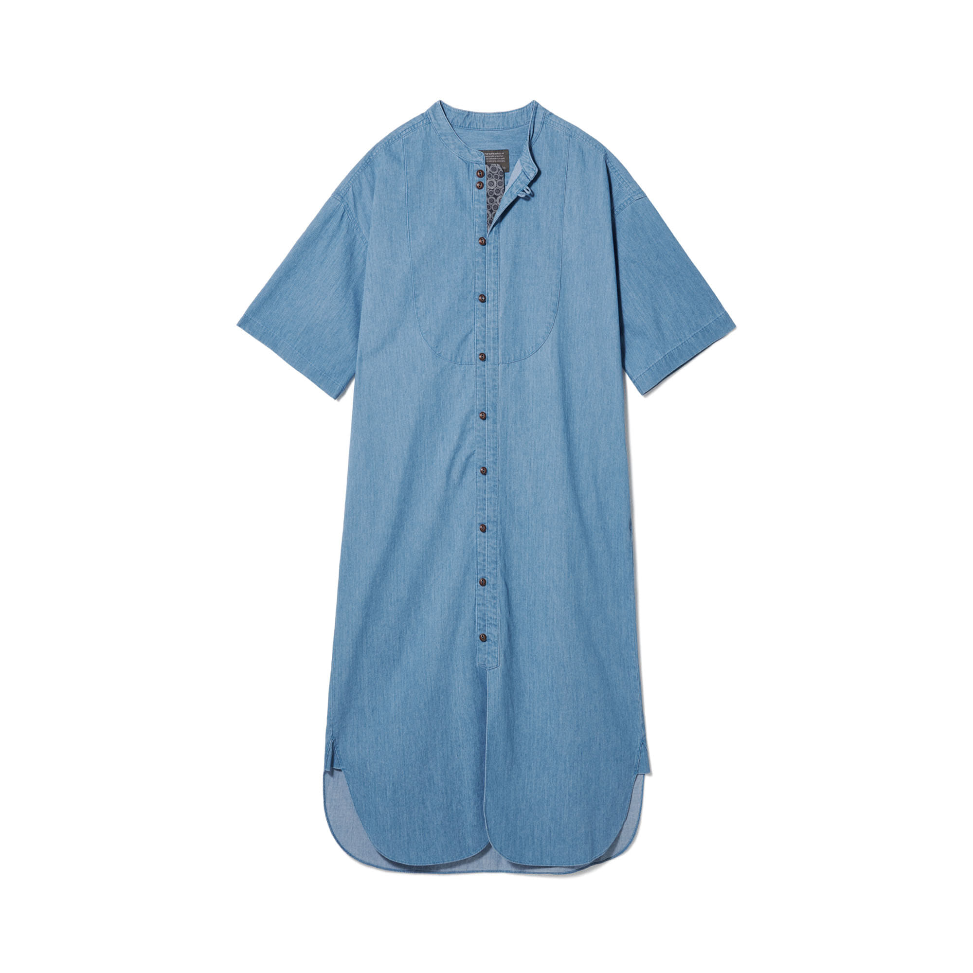 Loop Button Washed One-Piece Light Blue