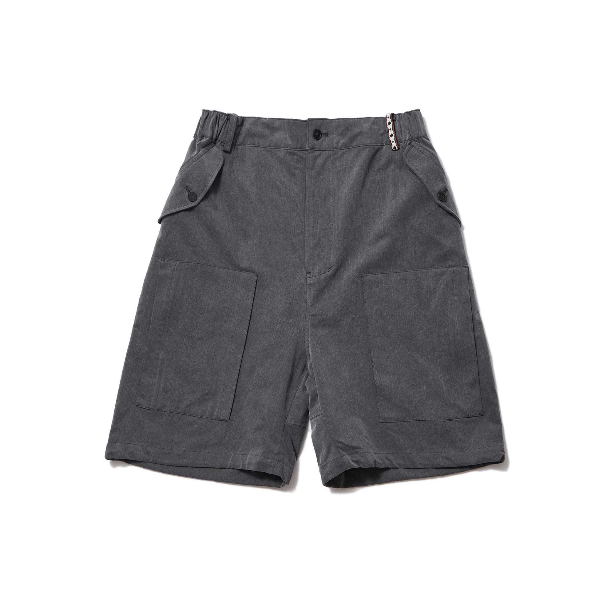6 Pocket Chino Capris Pants Charcoal