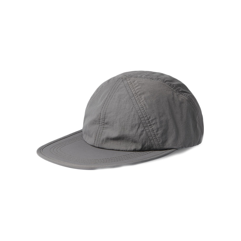Nylon Wrinkle 6 Pannel Cap Khaki Gray