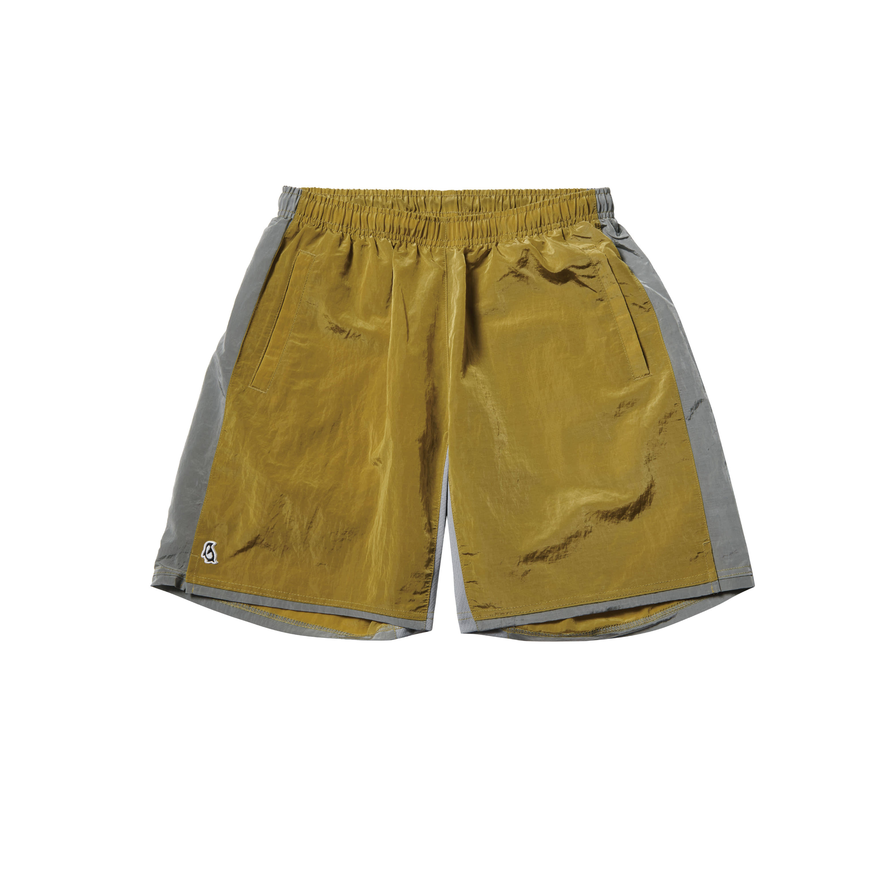 Paul Garments Dying Nylon Shorts Yellow Olive