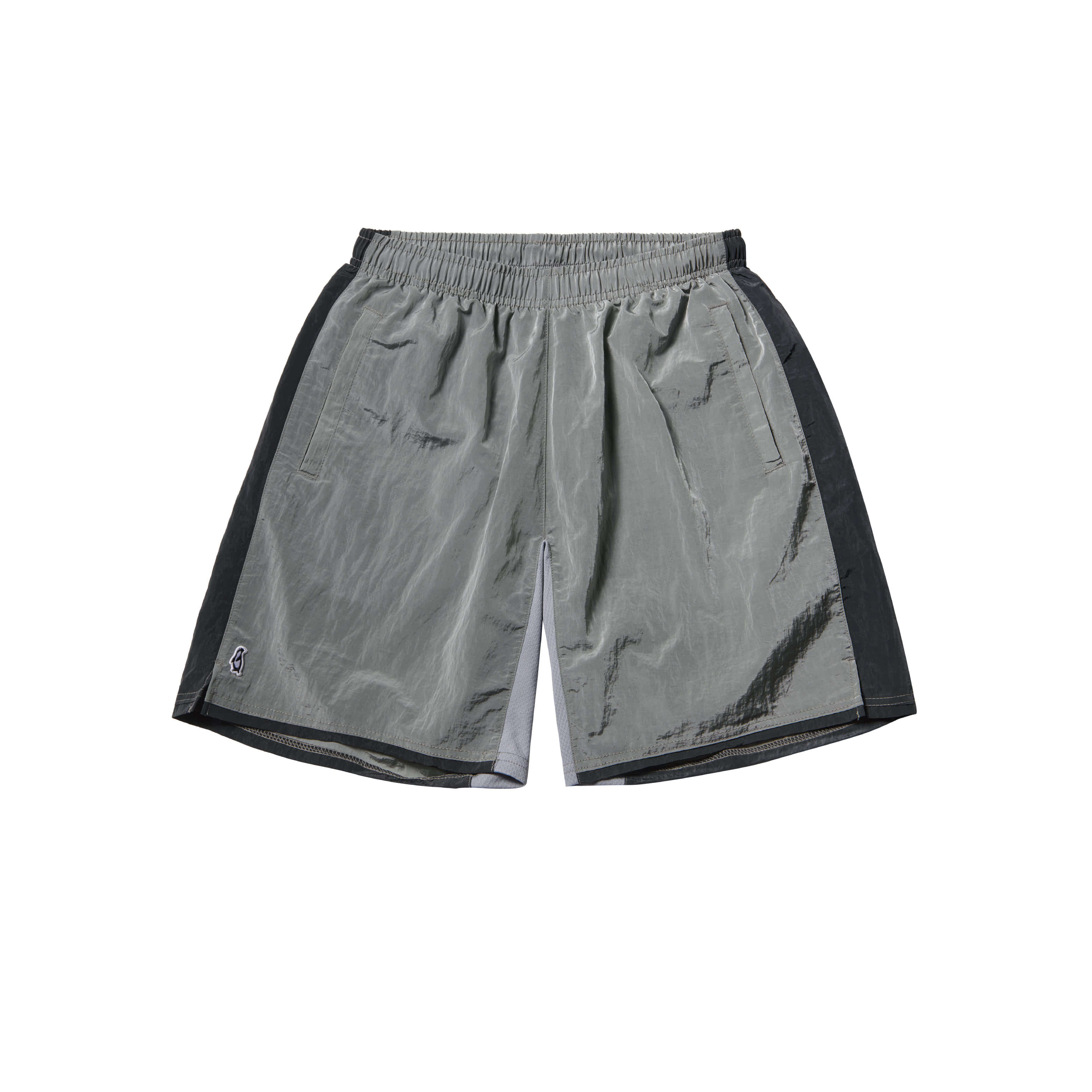 Paul Garments Dying Nylon Shorts Silver