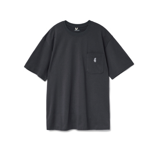[5월 29일 예약배송] Paul Pocket T-shirts Ash Black
