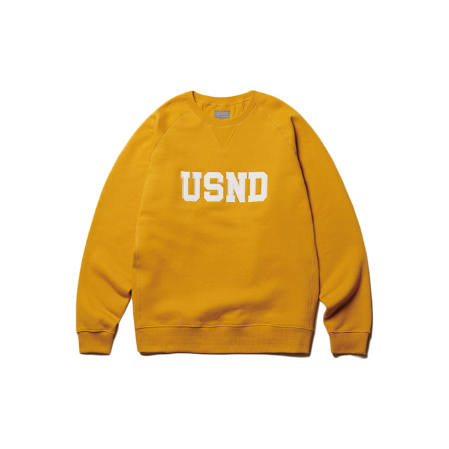 USND Heavy Raising Sweatshirts Mustard Yellow