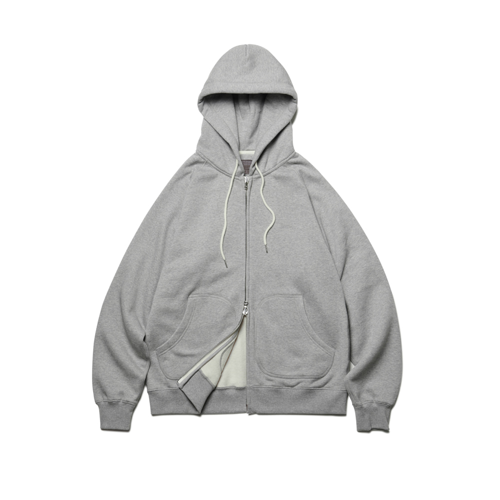 Heavy Raising Zip-Up Hoodie Gray