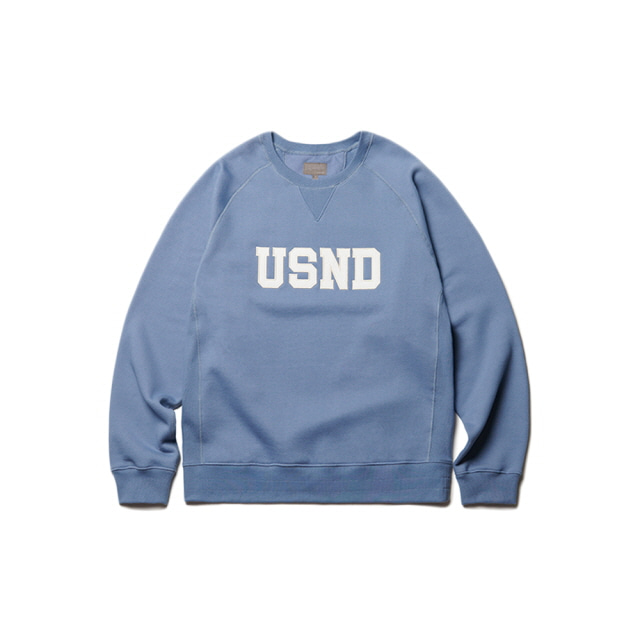 USND Heavy Raising Sweatshirts Hazy Blue