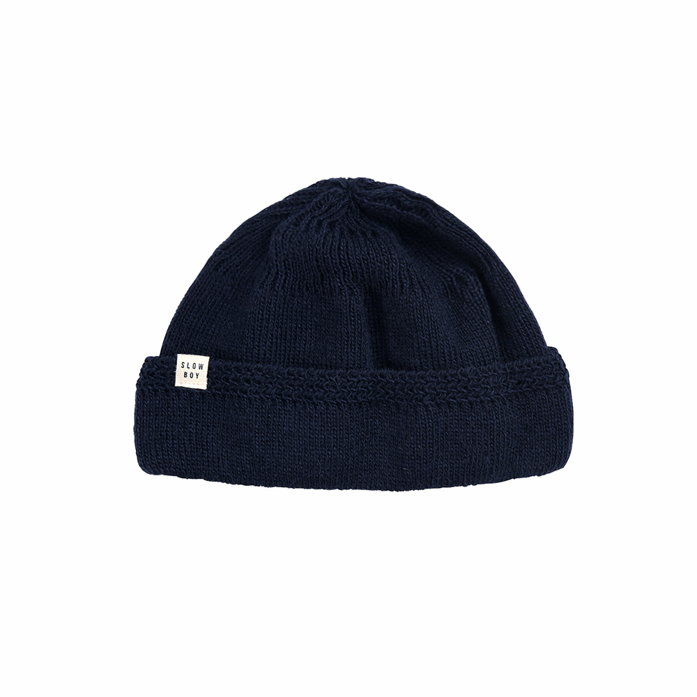Ramolin x Beslow Scotch Wool Watchcap Navy