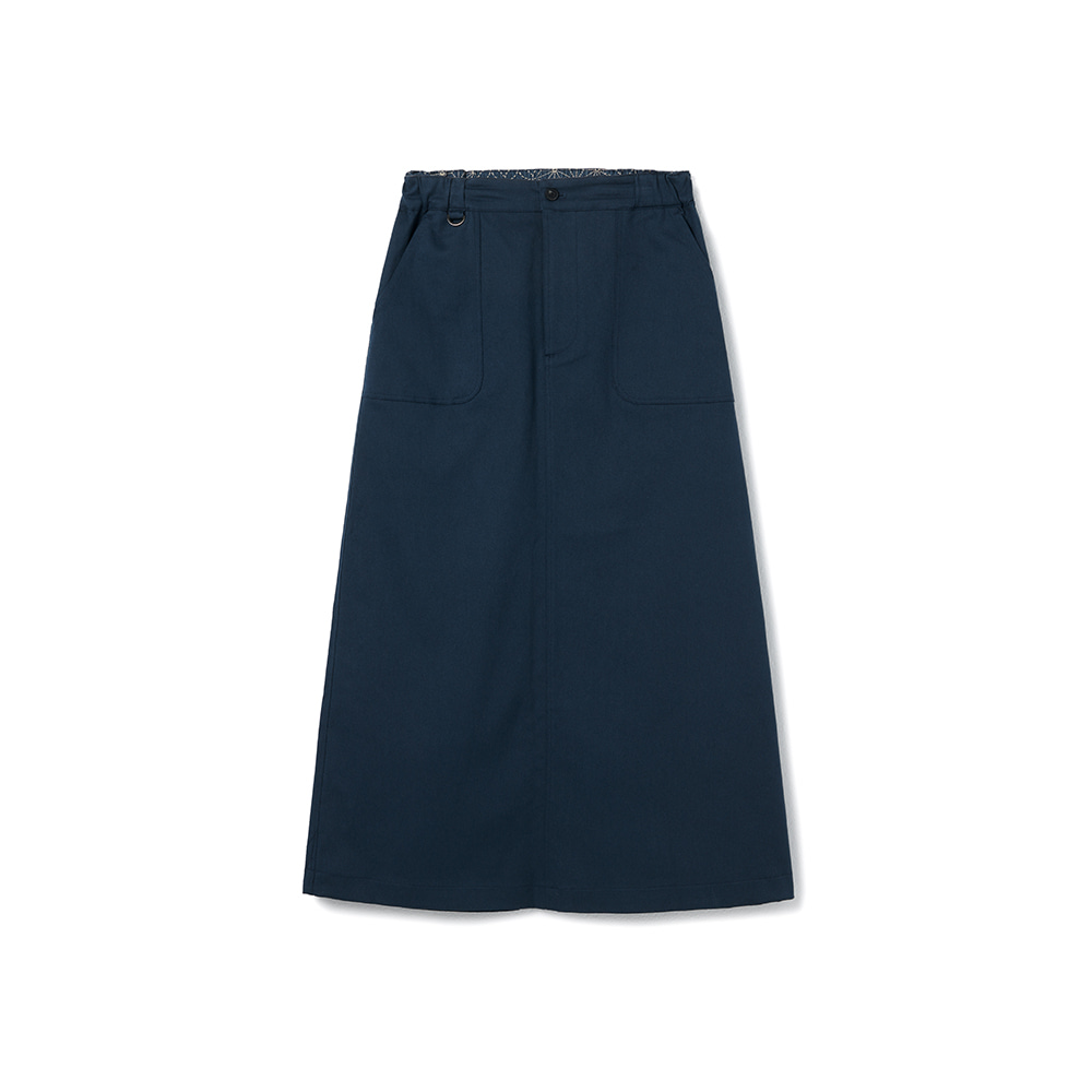 Fundamental Chino Skirt Spandex Vintage Navy