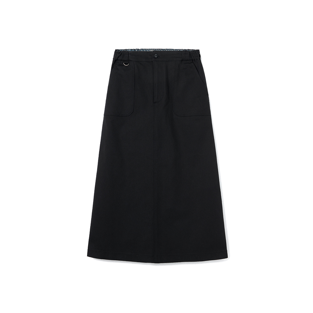 Fundamental Chino Skirt Spandex Black