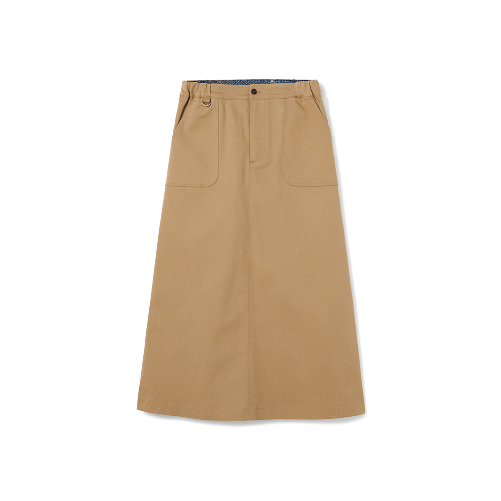 Fundamental Chino Skirt Spandex Beige