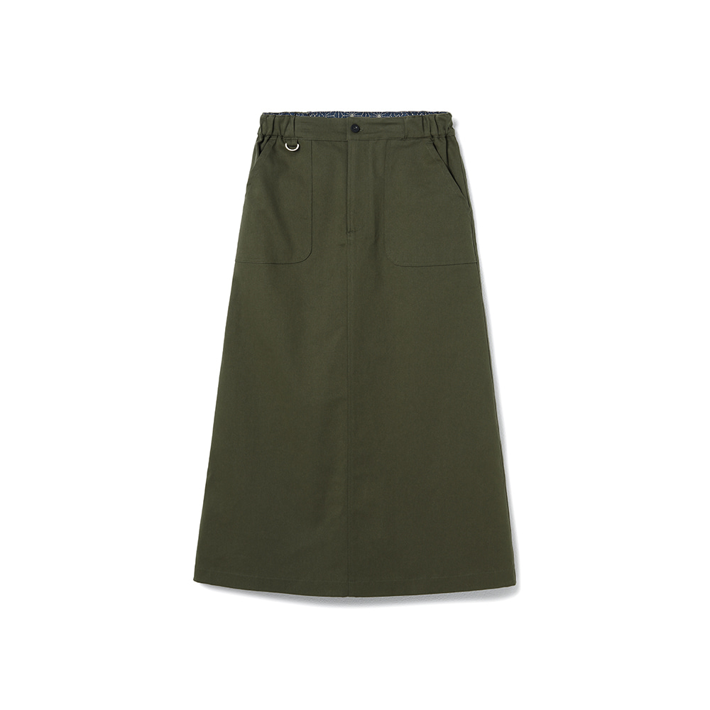 Fundamental Chino Skirt Spandex Khaki
