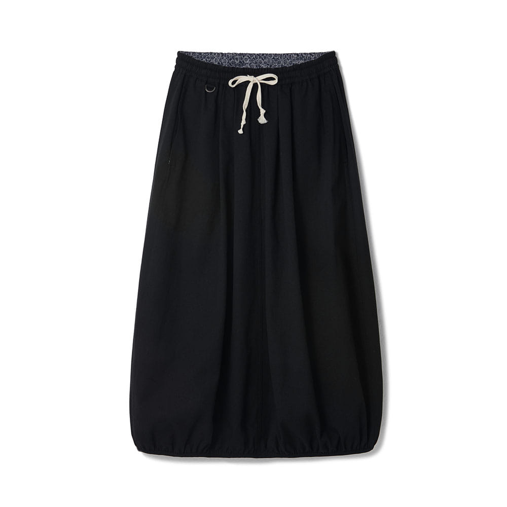 Balloon Chino Skirt Black