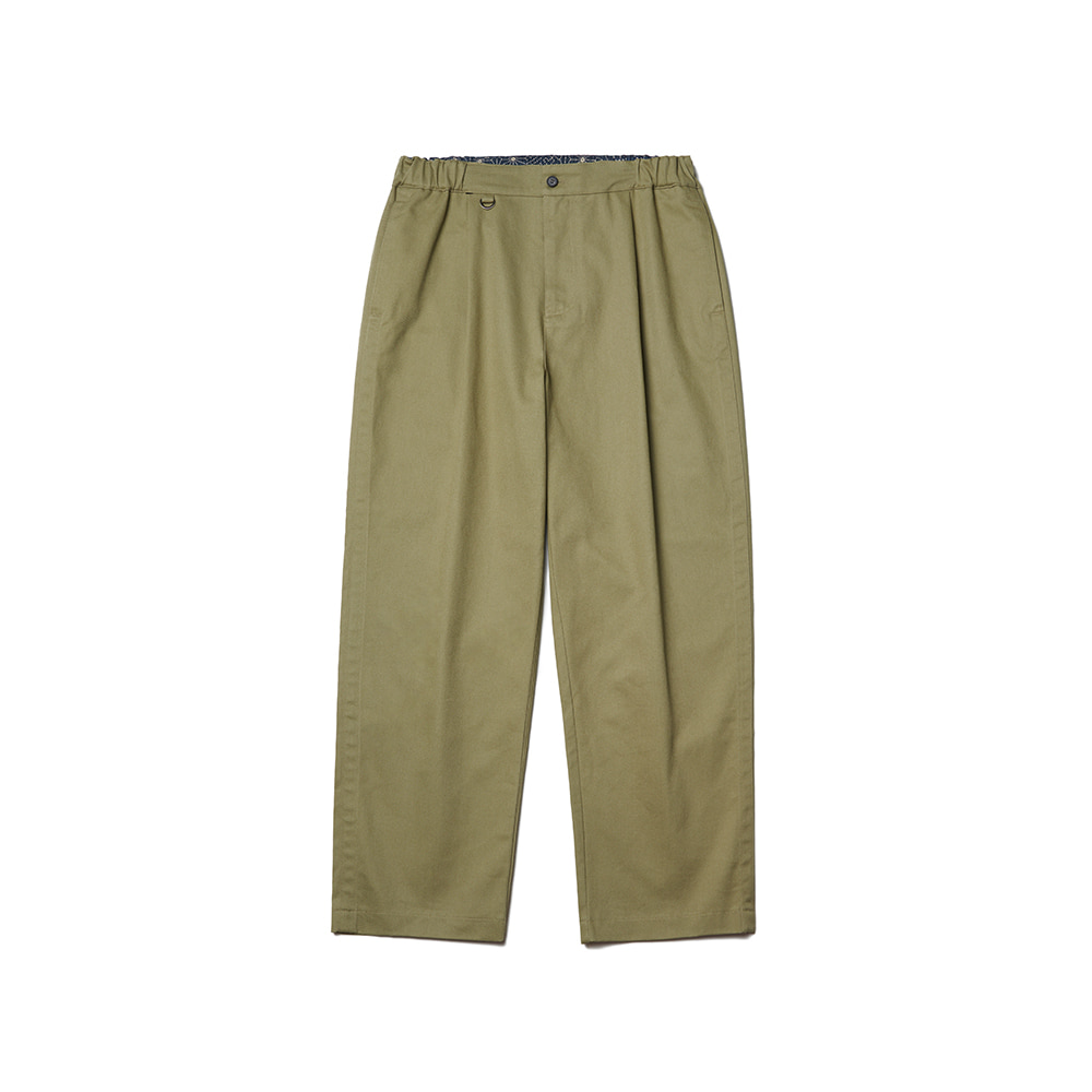 Pleated Ankle Chino Pants Light Khaki