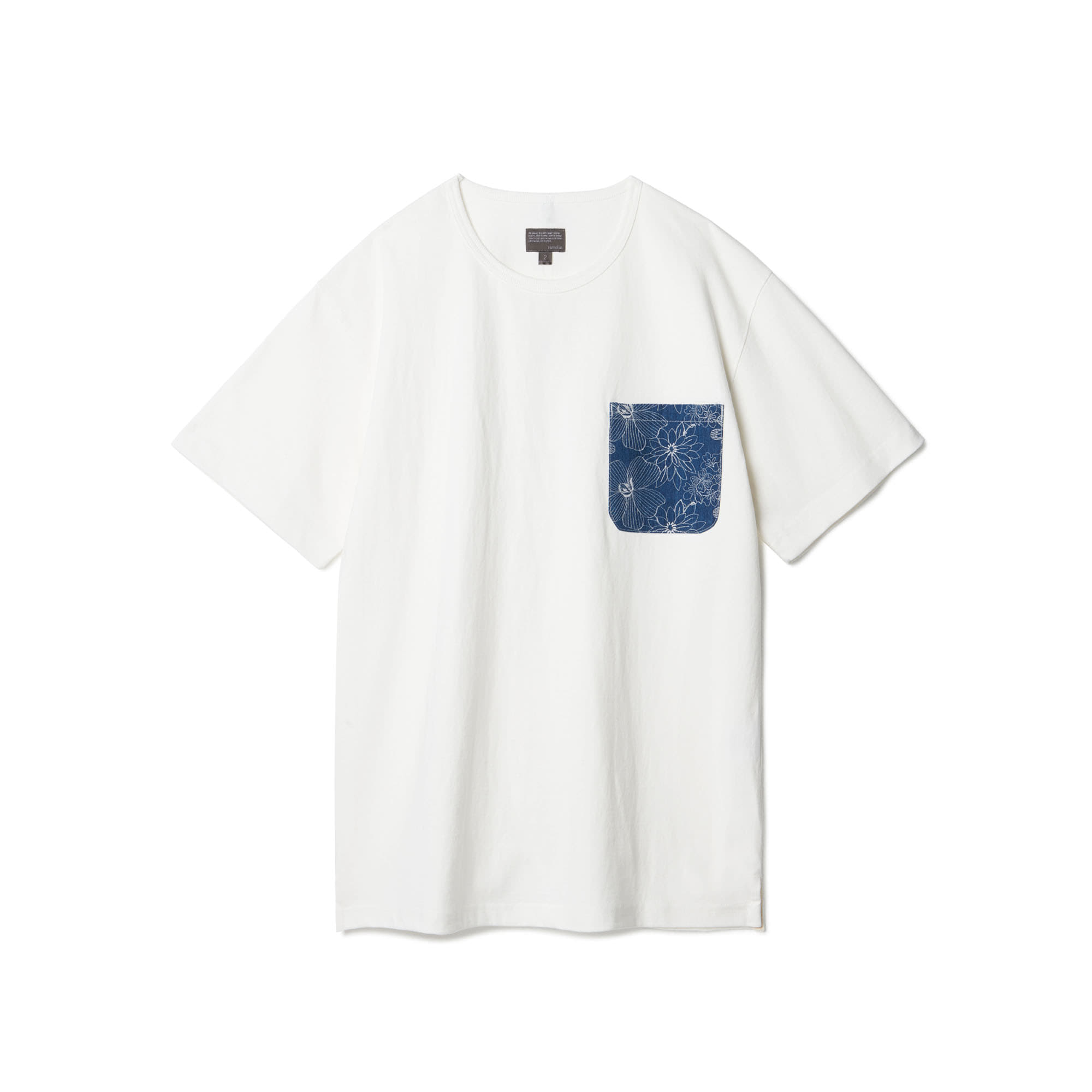 [Restock] Flower Embroidery Pocket T-shirts White
